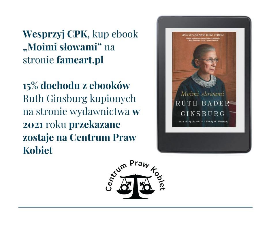 Grafika Natalia Miskal o książce poświęconej Ruth Bader Ginsburg