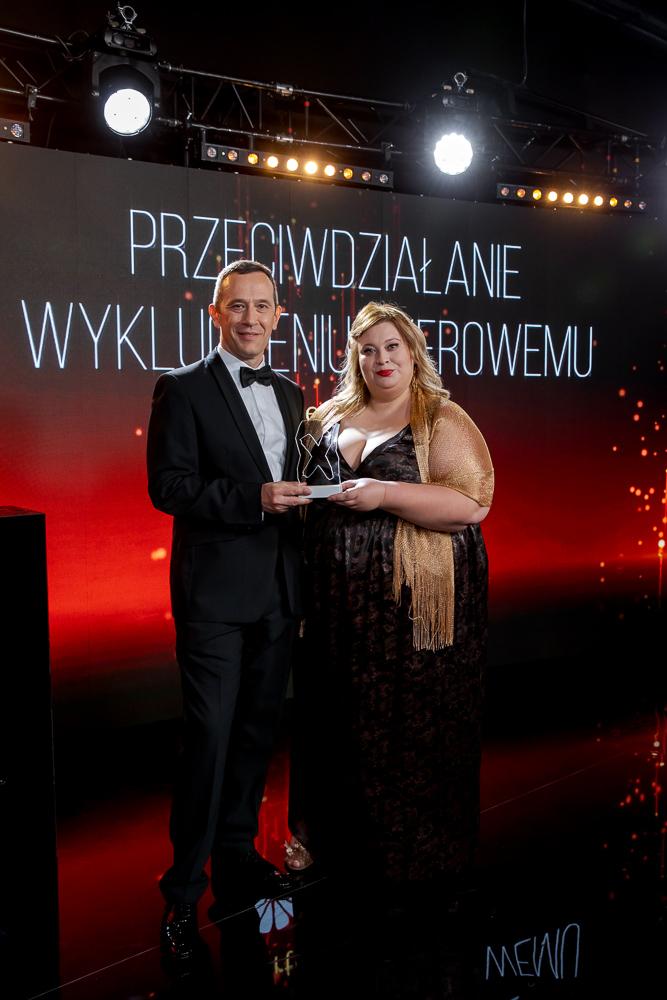 Radosław Kędzia i Magdalena Janczewska podczas gali Bizneswoman Roku 2020
